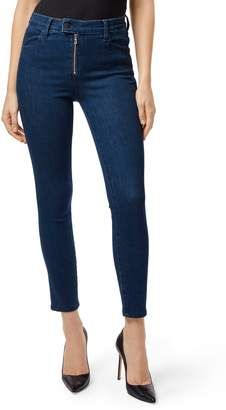 J Brand Alana Exposed Zip High Waist Ankle Skinny Jeans