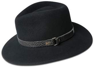 Bailey Of Hollywood Welt Leather-Trimmed Fedora Hat