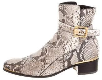 Versace Snakeskin Ankle Boots