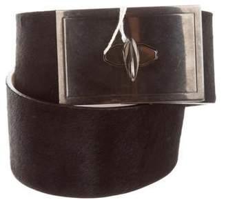 Givenchy Ponyhair Shark-Lock Belt w/ Tags