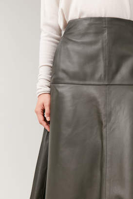 Cos A-LINE LEATHER SKIRT