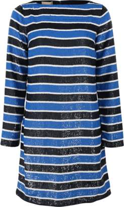 Michael Kors Stripe Sequined Dress