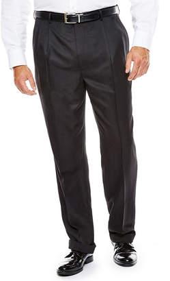 STAFFORD Stafford Pleated Microfiber Pants - Big & Tall