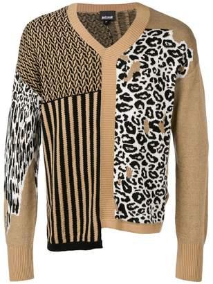 Just Cavalli asymmetric patterned sweater