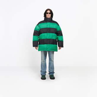 Balenciaga Striped technical fabric puffer jacket