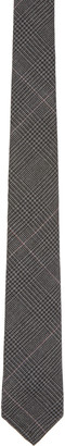 Thom Browne Grey Hairline Overcheck Tie $190 thestylecure.com