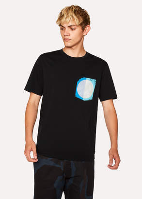 Paul Smith Men's Black Organic-Cotton Painted-Pocket T-Shirt