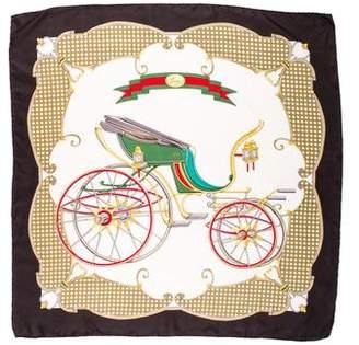Gucci Silk Carriage Printed Scarf