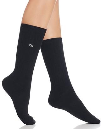 Calvin Klein Luxe Crew Socks $25 thestylecure.com