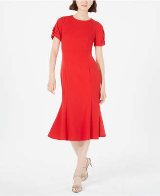 Calvin Klein Trumpet Midi Dress