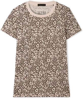 ATM Anthony Thomas Melillo Schoolboy Leopard-print Slub Cotton-jersey T-shirt