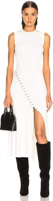 Alexander McQueen Slit Dress in Ivory & Silver | FWRD