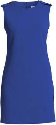 Iconic American Designer Epaulette-Shoulder Crepe A-Line Dress