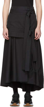 3.1 Phillip Lim Black Tie Front Maxi Skirt