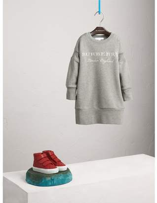Burberry Embroidered Cotton Sweatshirt Dress