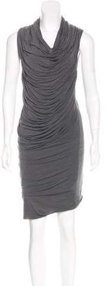 Helmut Lang Draped Midi Dress