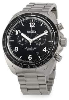 Shinola Rambler Chronograph Brushed Titanium Bracelet Watch