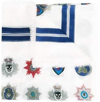 Alexander McQueen skull badge scarf