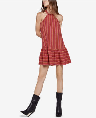 BCBGeneration Double-Striped A-Line Halter Dress