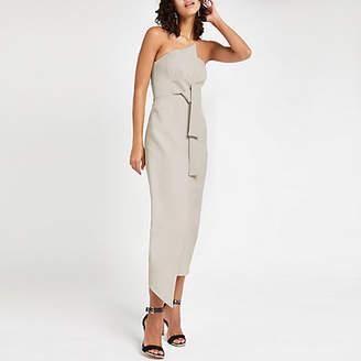 River Island Light grey bandeau bodycon maxi dress