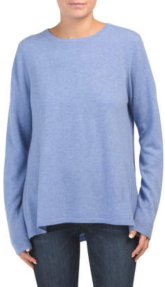 Cashmere Pleat Back Sweater