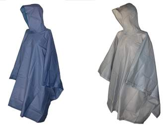 totes ISOTONER Unisex Hooded Pullover Rain Poncho with Side Snaps (Pack of 2)