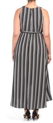 SL Fashions Plus Sleeveless Striped Maxi Dress