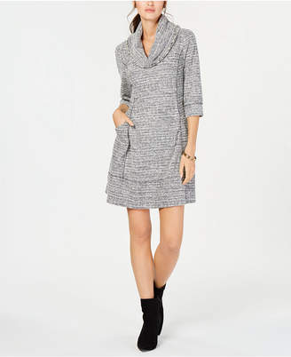 Robbie Bee Petite Cowl-Neck Sweater Dress