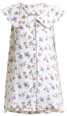 Emilia Wickstead - Jonas Floral Print Sleeveless Jacket - Womens - White Multi