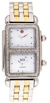 Michele Deco Park Dual Time Watch