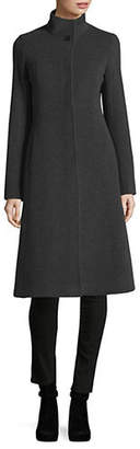 Blend of America HISO Stand-Collar Cashmere and Wool Coat