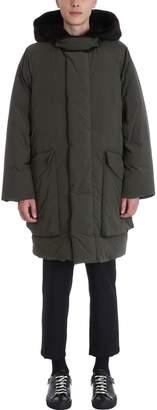 Oamc Parka Green Nylon Coat