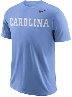 Nike Men's North Carolina Tar Heels Dri-fit Cotton Wordmark T-Shirt