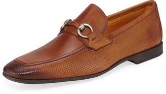 8eb1666197b Magnanni Butero Perforated Leather Bit Loafers