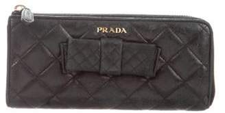 Prada Antic Soft Quilted Wallet Black Antic Soft Quilted Wallet