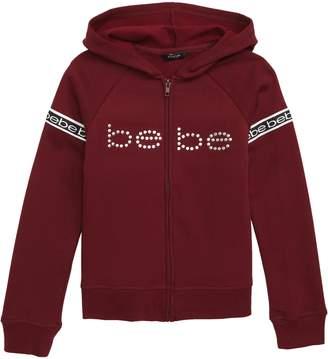 Bebe Logo Tape Full Zip Hoodie