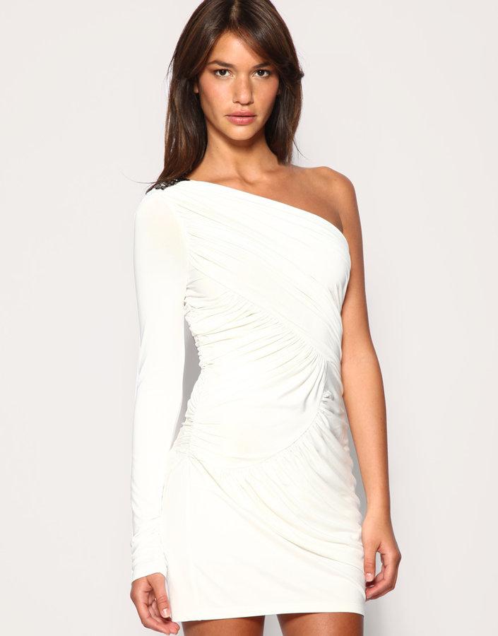 Forever Unique Stud Shoulder Grecian Dress