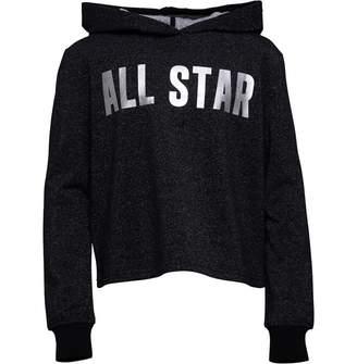 fd452481c82 Converse Junior Girls All Star Cropped Hoodie Black
