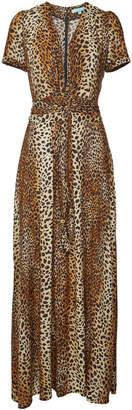 Melissa Odabash Lou Leopard Print Maxi Dress with Self-Tie Bow