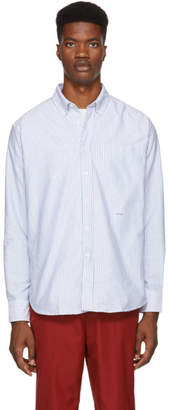 Noah NYC Blue and White Oxford Shirt