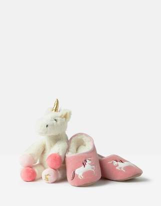 Joules Slipper And Soft Toy Gift Set