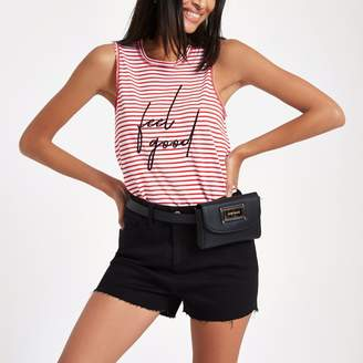 River Island Womens Red stripe 'feel good' tank top