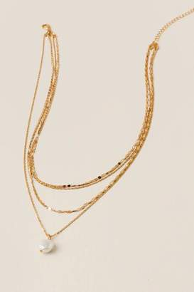 francesca's Sonia Multi-Strand Pearl Necklace - Gold