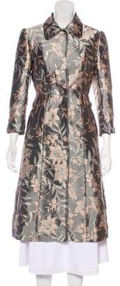 Dolce & Gabbana Floral Jacquard Long Coat
