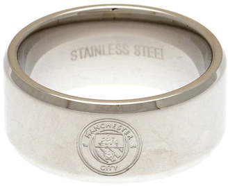 Manchester City Stainless Steel Man City Ring - Size X