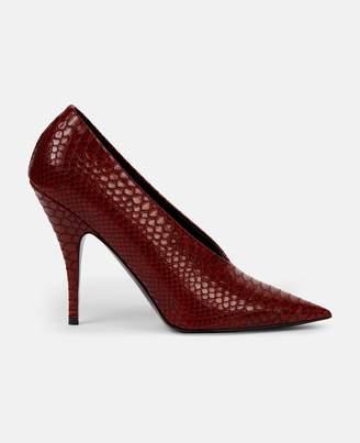 Stella McCartney red woven pumps