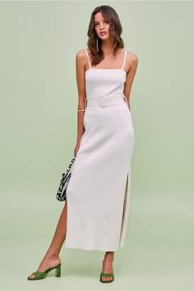 Finders Keepers BRIGGITTE KNIT DRESS ivory
