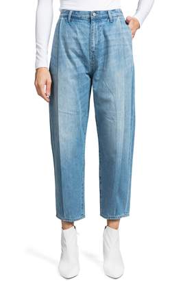 PRPS Pleated Tapered Crop Jeans