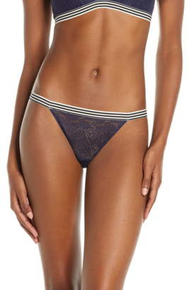 Madewell Lace Stripe Trim String Bikini