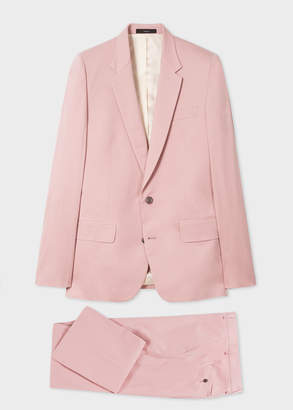 Paul Smith The Soho - Men's Tailored-Fit Light Pink Stretch-Cotton Twill Suit